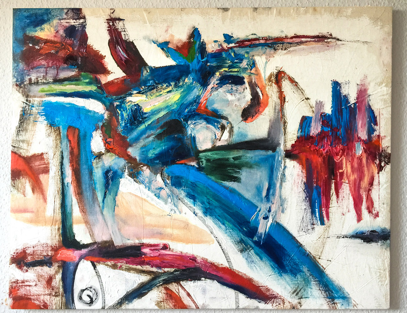 "Intuitive Kunst ""Sonderling"" Künstler Tilarids - Oleg Permeacov, 92x73, Öl auf Cotton, 01.2018 Kunst Gemälde online kaufen, Künstler Bilder, Original Gemälde, Künstler Bilder kaufen"