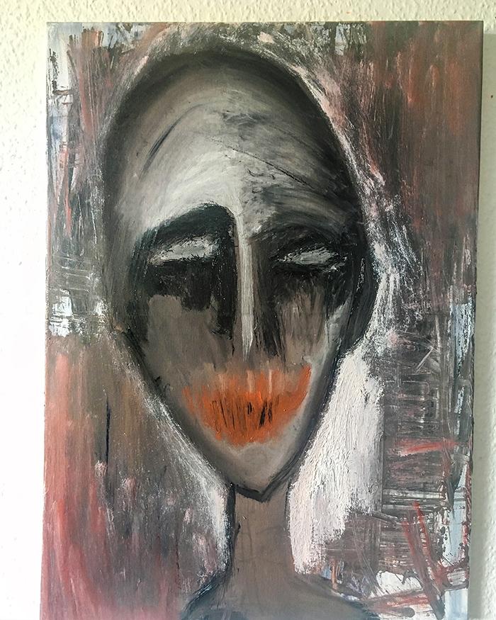 """Original Gemälde """"Call me"""" Künstlerin Kvila Bristenia, 50x70, Öl auf Leinwand, 09.2018 Original Bilder kaufen, Kunst Gemälde online kaufen, Künstler Bilder, Original Gemälde"""