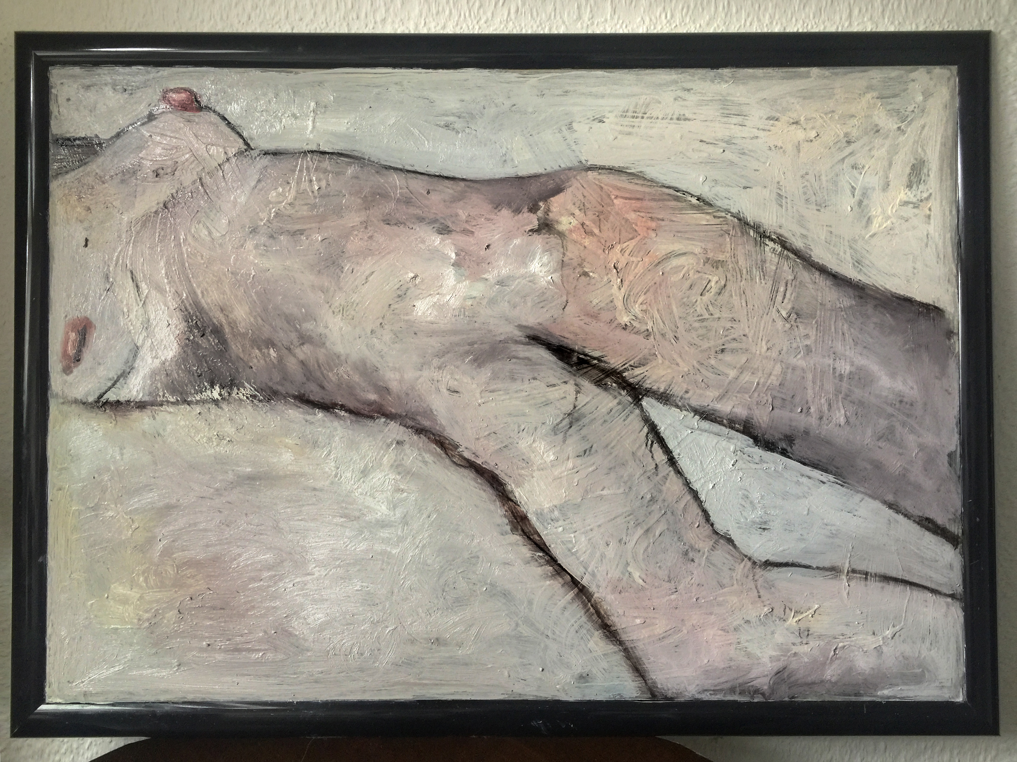"Moderne Ölgemälde ""Pastel dreams"", Künstlerin Kvila Bristenia, 107×77, Öl auf Leinwand, 08.2017"