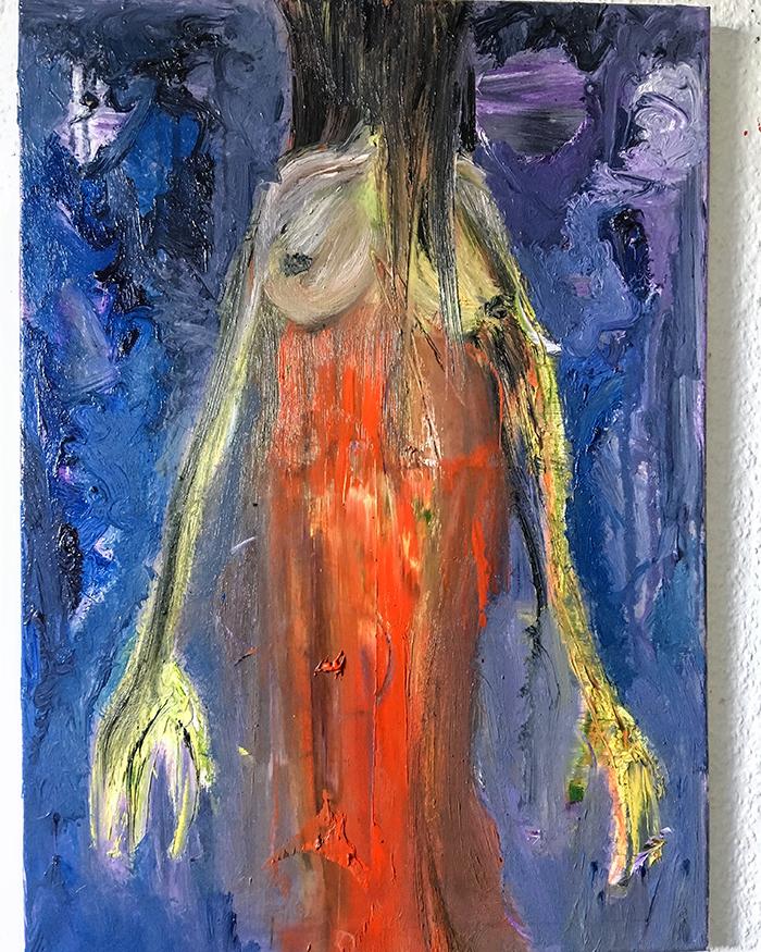 """Ölgemälde """"I want you"""" Künstlerin Kvila Bristenia, 50x70, Öl auf Leinwand, 09.2018 berühmte künstler der modern, moderne maler Deutschland, Gemälde kaufen, Original Bilder kaufen"""