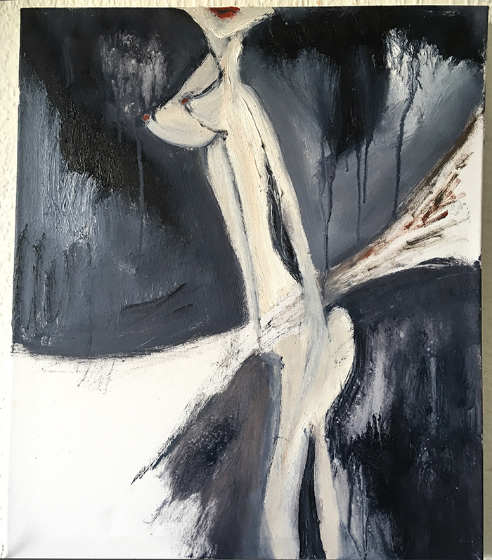 "Ölgemälde ""butterfly"" Künstlerin Kvila Bristenia, 50x60, Öl auf Leinwand, 09.2018 , expressive Malerei, abstrakte malerei, abstrakte bilder, Gemälde und Malerei, direkt aus dem Kunst Atelier"