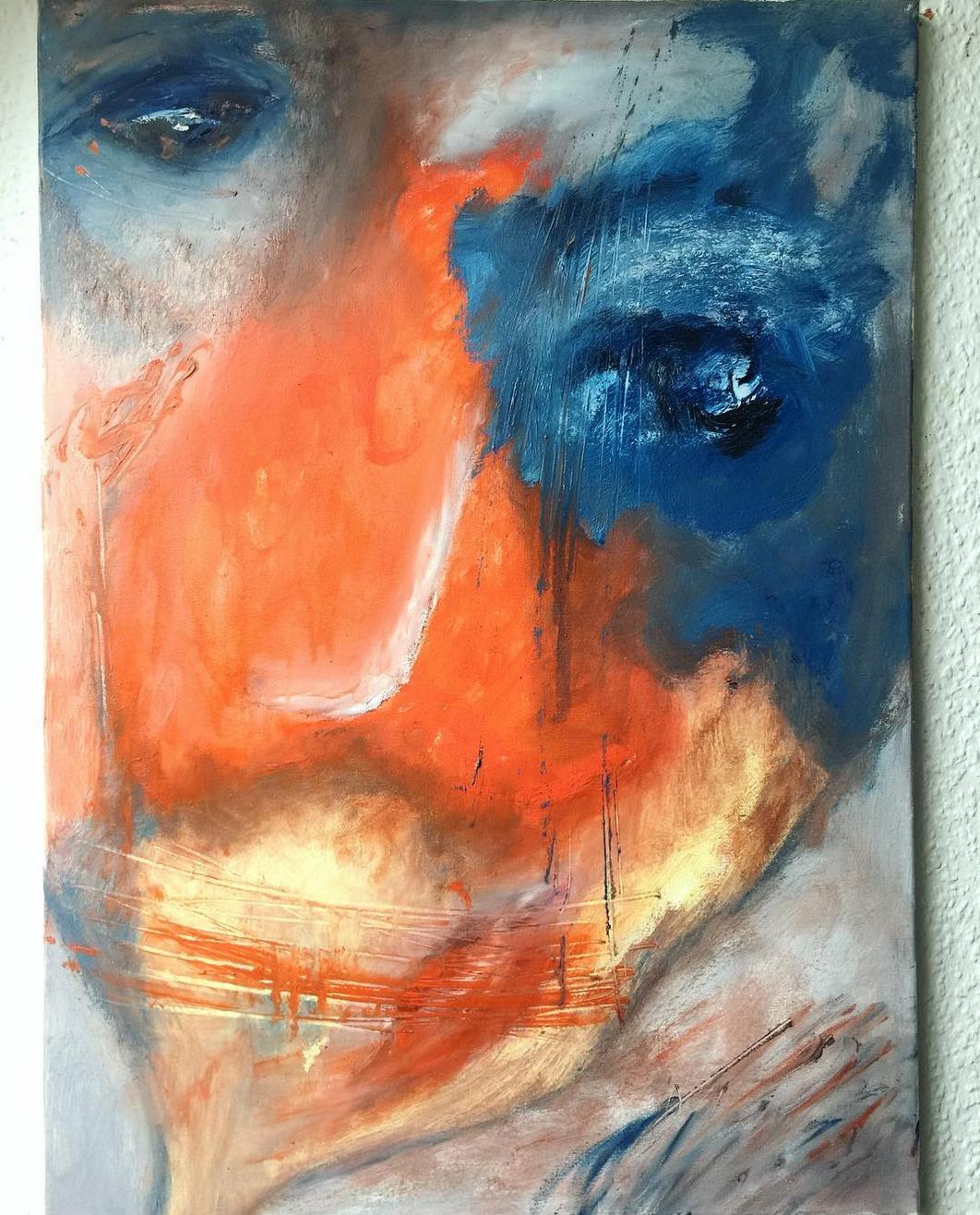 """Echte Unikate """"Faces: Duality?"""" Künstlerin Kvila Bristenia, 50x70, Öl auf Leinwand, 02.2018 Echte Unikate mit viel Liebe zum Detail."""