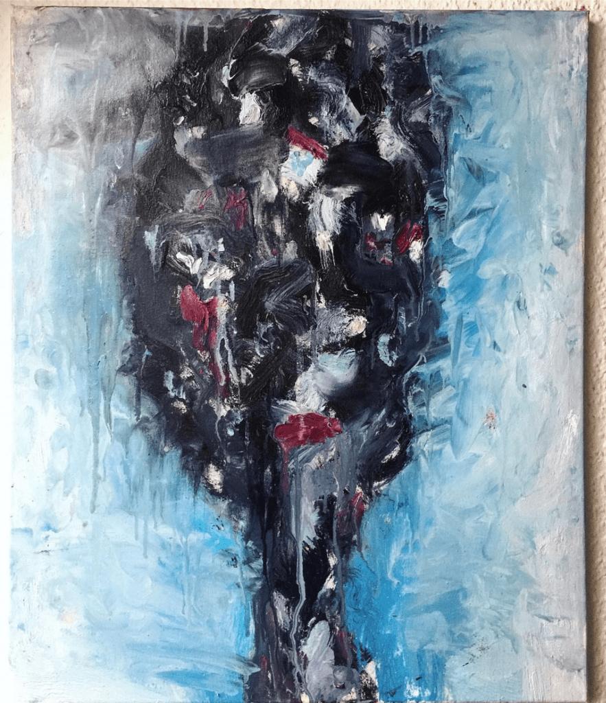 """Abstrakte Kunst """"Faces: Hidden"""" Künstlerin Kvila Bristenia, 50x70, Öl auf Leinwand, 02.2018 Malerei kaufen, Zeitgenössische Gemälde, Originale Kunstwerke Kaufen, abstrakte Kunst"""