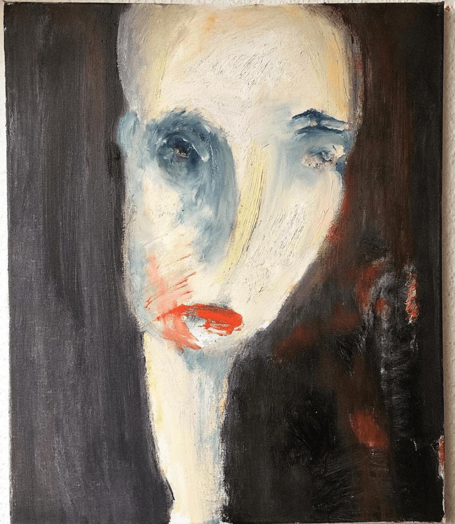 "Gemälde in Öl ""Faces: Ice in the heart"" Künstlerin Kvila Bristenia, 50x60, Öl auf Leinwand, 02.2018 Unikate kaufen, Künstlerische Malereien, Gemälde in Öl, Kunstgalerie, Malerei in Dresden"
