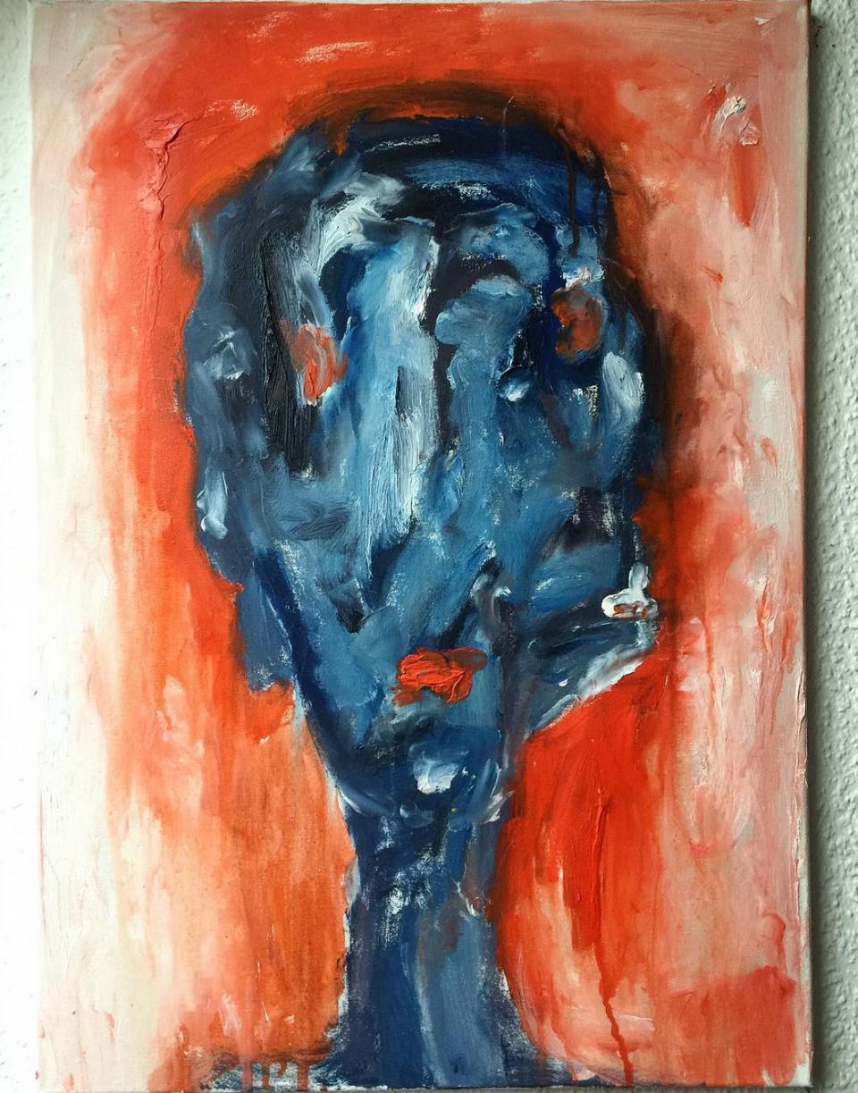 """Gemälde """"Faces: network"""" Künstlerin Kvila Bristenia, 50x70, Öl auf Leinwand, 02.2018 , Gemälde in Öl, Kunstgalerie, Malerei in Dresden, Dresden Bilder online bestellen, Deutsche Malerei kaufen, bildende Kunst, nonfigurative Kunst, modernistische Tendenzen"""