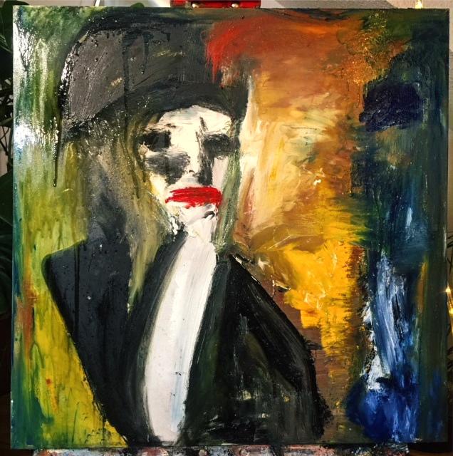 "Künstler Gemälde ""Faces: No questions any more"" Künstlerin Kvila Bristenia, 60x60, Öl auf Leinwand, 02.2018 Künstler Bilder online kaufen, Künstler Gemälde, Leinwandbild online kaufen,"