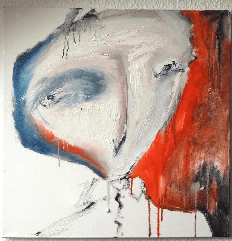 """Moderne Ölbilder """"Faces: Play with me"""" Künstlerin Kvila Bristenia, 60x60, Öl auf Leinwand, 02.2018 , moderne Ölbilder, abstrakte Ölbilder, Wohnzimmerbilder modern, Originale online kaufen, abstrakte Originalgemälde"""