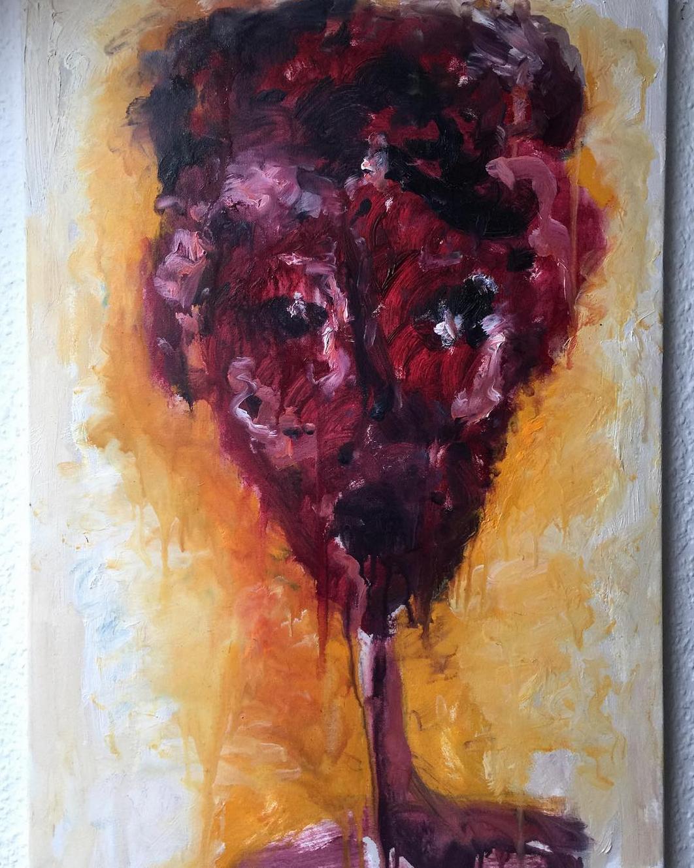 "Gemälde ""Faces: Ready for life"" Künstlerin Kvila Bristenia, 50x70, Öl auf Leinwand, 02.2018 Moderne Kunst Bilder"