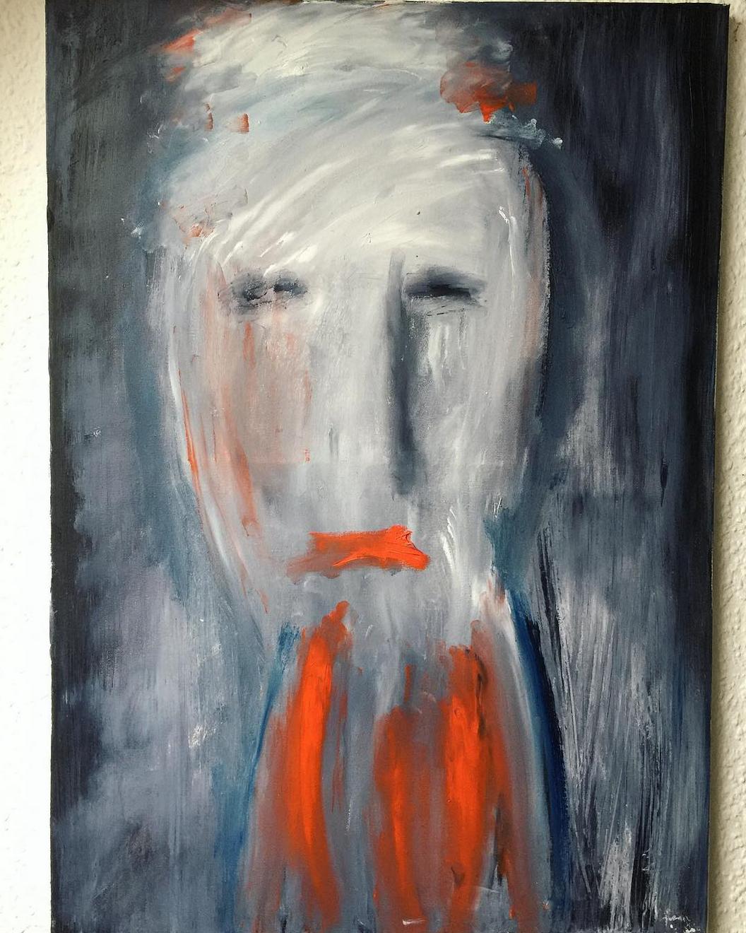 """Öl Malerei """"Faces: What can you see?"""" Künstlerin Kvila Bristenia, 50x70, Öl auf Leinwand, 02.2018 berühmte künstler der modern, moderne maler Deutschland, Gemälde kaufen, Original Bilder kaufen, Kunst Gemälde online kaufen,"""
