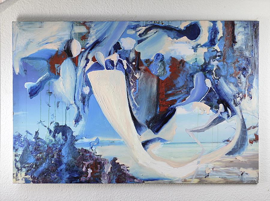 "Original Bild ""Painter-Boatman"" Künstler Tilarids, 120x80 oil painting, 2018"
