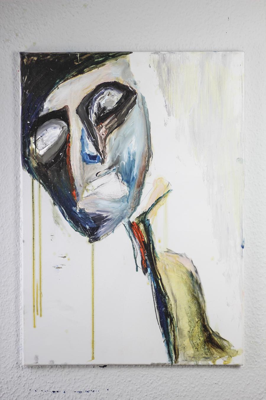 """Abstrakte Originalgemälde """"Faces- Idolist"""" Künstler Tilarids, 50x70, Öl auf Leinwand, 02.2018.jpg"""
